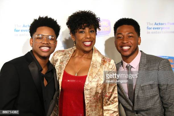 Actor Nathan Davis Jr actress Dawnn Lewis and actor Jacob Latimore attend The Actors Fund's 2017 Looking Ahead Awards honoring the youth cast of...