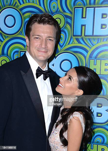 Actor Nathan Fillion and actress Mikaela Hoover arrive at HBO's Annual Primetime Emmy Awards Post Award Reception at The Plaza at the Pacific Design...