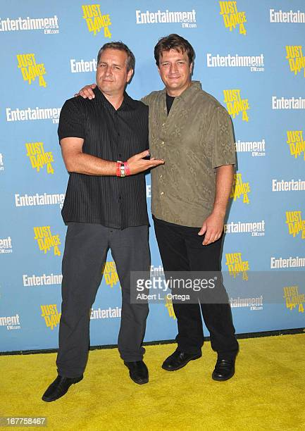 Actor Nathan Fillion and brother Jeff Fillion arrive for Entertainment Weekly's ComicCon Celebration held at Float at Hard Rock Hotel San Diego on...