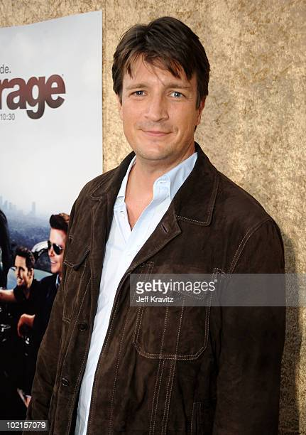 Actor Nathan Fillion arrives at HBO's 'Entourage' Season 7 premiere held at Paramount Theater on the Paramount Studios lot on June 16 2010 in...