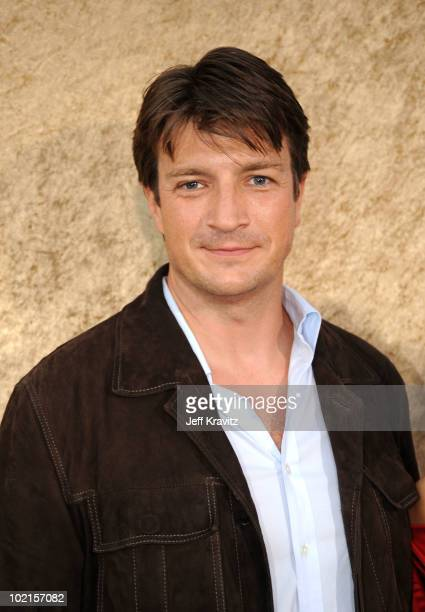 Actor Nathan Fillion arrives at HBO's Entourage Season 7 premiere held at Paramount Theater on the Paramount Studios lot on June 16 2010 in Hollywood...