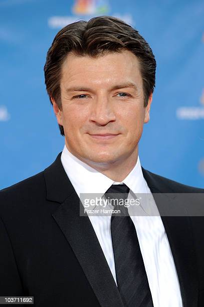 Actor Nathan Fillion arrives at the 62nd Annual Primetime Emmy Awards held at the Nokia Theatre LA Live on August 29 2010 in Los Angeles California