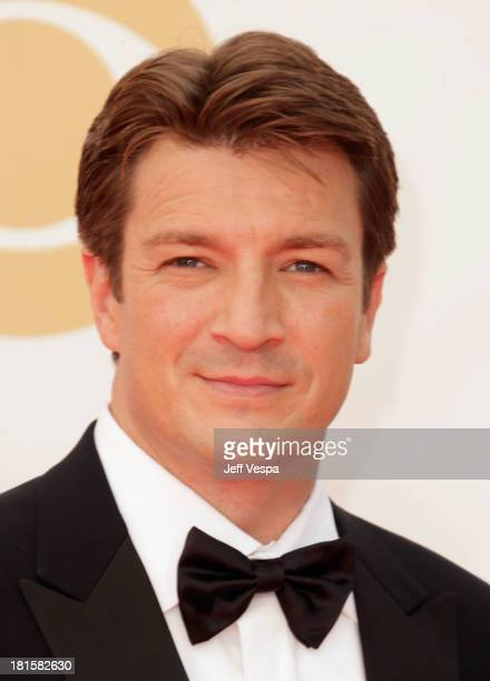 Actor Nathan Fillion arrives at the 65th Annual Primetime Emmy Awards held at Nokia Theatre LA Live on September 22 2013 in Los Angeles California