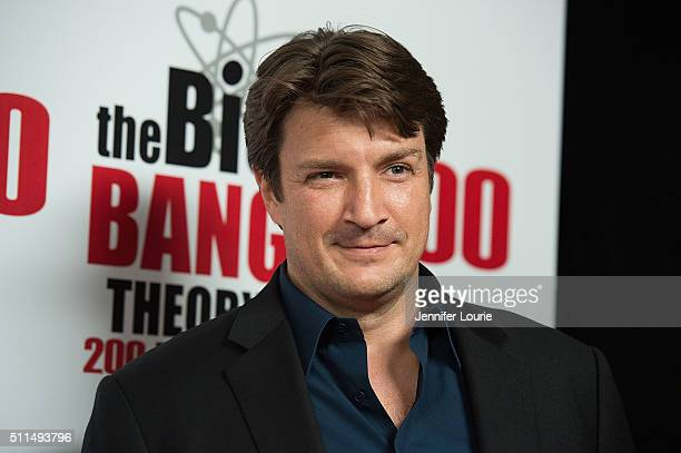 Actor Nathan Fillion arrives at the CBS's The Big Bang Theory Celebrates 200th Episode at the Vibiana on February 20 2016 in Los Angeles California