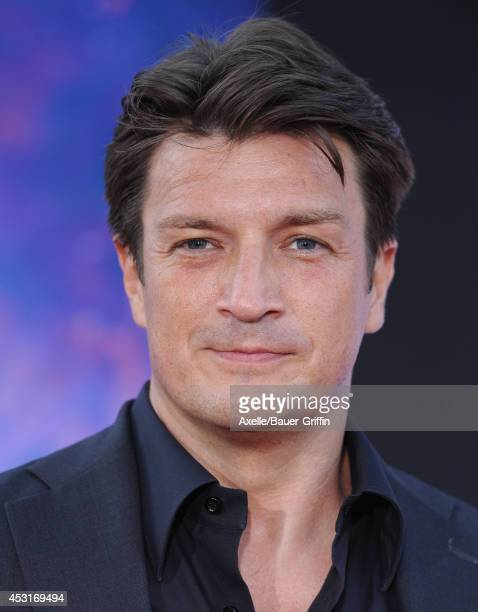 Actor Nathan Fillion arrives at the Los Angeles premiere of 'Guardians Of The Galaxy' at the El Capitan Theatre on July 21 2014 in Hollywood...