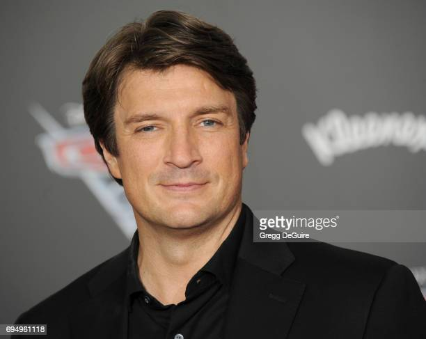 Actor Nathan Fillion arrives at the premiere of Disney And Pixar's Cars 3 at Anaheim Convention Center on June 10 2017 in Anaheim California
