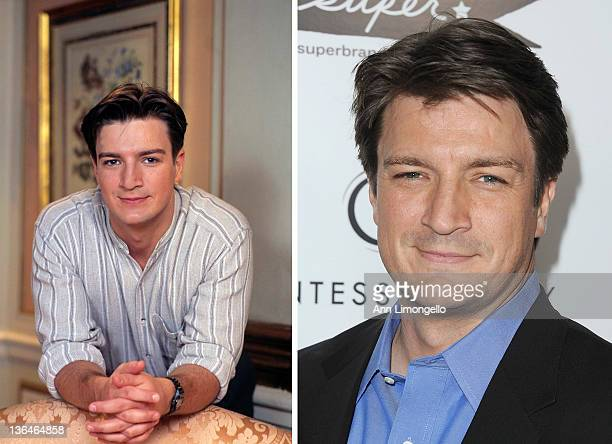In this composite image a comparison has been made of actor Nathan Fillion Many of today's leading Hollywood stars began their careers in daytime...