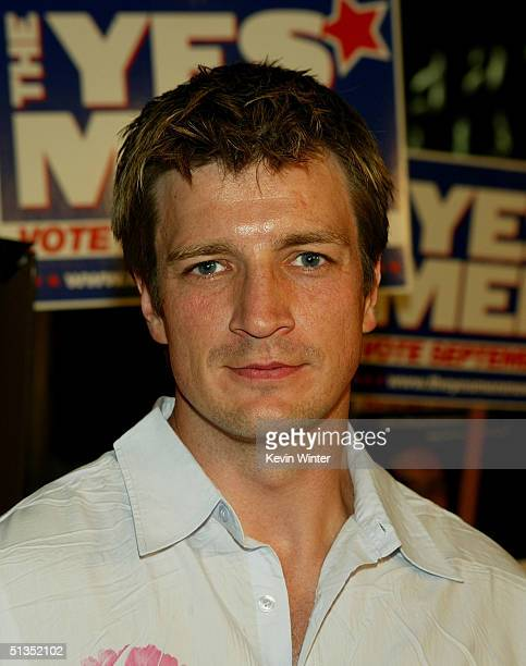 Actor Nathan Fillion arrives to the premiere of United Artists' film The Yes Men on the opening night of the Silver Lake Film Festival at the...