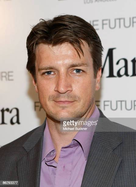 Actor Nathan Fillion attend the Women in Film MaxMara Face of the Future 2009 Cocktail Party at the Sunset Tower Hotel on April 29 2009 in West...