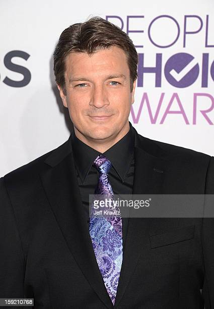 Actor Nathan Fillion attends the 2013 People's Choice Awards at Nokia Theatre LA Live on January 9 2013 in Los Angeles California
