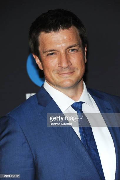 Actor Nathan Fillion attends the 2018 Disney ABC Freeform Upfront on May 15 2018 in New York City