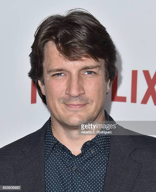 Actor Nathan Fillion attends the premiere Netflix's 'Santa Clarita Diet' at ArcLight Cinemas Cinerama Dome on February 1 2017 in Hollywood California
