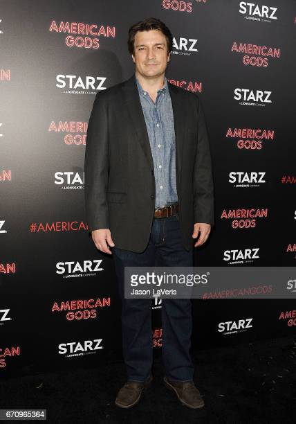 Actor Nathan Fillion attends the premiere of 'American Gods' at ArcLight Cinemas Cinerama Dome on April 20 2017 in Hollywood California