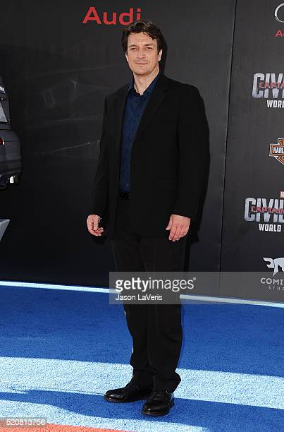 Actor Nathan Fillion attends the premiere of 'Captain America Civil War' at Dolby Theatre on April 12 2016 in Hollywood California