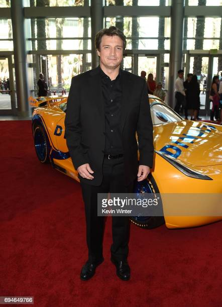 Actor Nathan Fillion attends the premiere of Disney and Pixar's 'Cars 3' at Anaheim Convention Center on June 10 2017 in Anaheim California