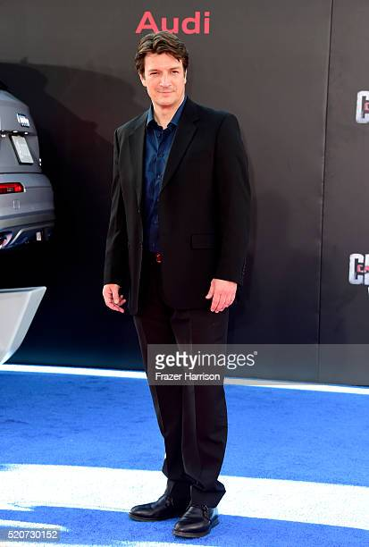Actor Nathan Fillion attends the premiere of Marvel's 'Captain America Civil War' at Dolby Theatre on April 12 2016 in Los Angeles California