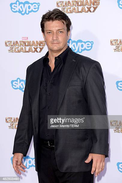 Actor Nathan Fillion attends the premiere of Marvel's Guardians Of The Galaxy at the Dolby Theatre on July 21 2014 in Hollywood California