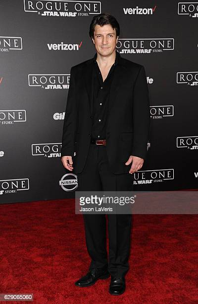 Actor Nathan Fillion attends the premiere of 'Rogue One A Star Wars Story' at the Pantages Theatre on December 10 2016 in Hollywood California