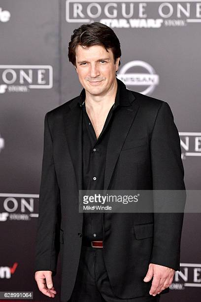Actor Nathan Fillion attends the premiere of Walt Disney Pictures and Lucasfilm's 'Rogue One A Star Wars Story' at the Pantages Theatre on December...
