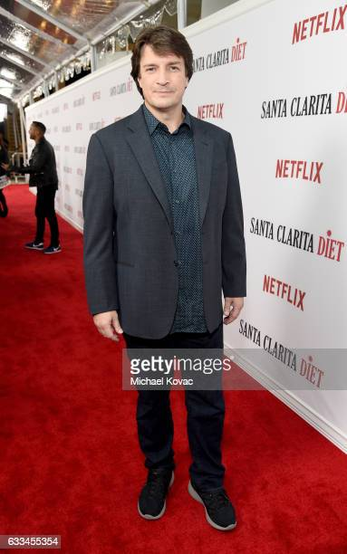 Actor Nathan Fillion attends the 'Santa Clarita Diet' Premiere on February 1 2017 in Los Angeles California