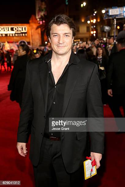 Actor Nathan Fillion attends The World Premiere of Lucasfilm's highly anticipated firstever standalone Star Wars adventure 'Rogue One A Star Wars...