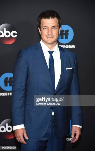 Actor Nathan Fillion of The Rookie attends during 2018 Disney ABC Freeform Upfront at Tavern On The Green on May 15 2018 in New York City