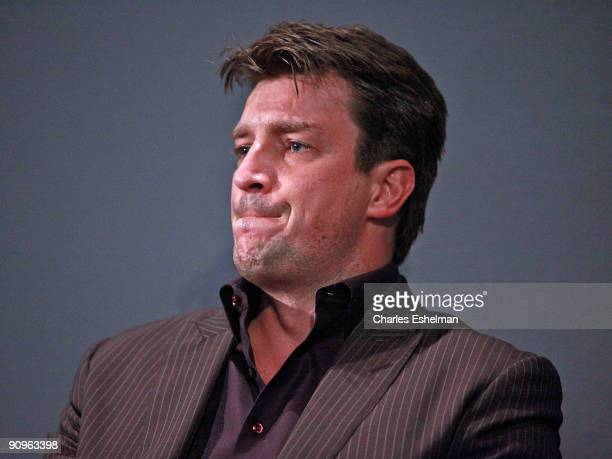 Actor Nathan Fillion visits the Apple Store Soho on September 18 2009 in New York City
