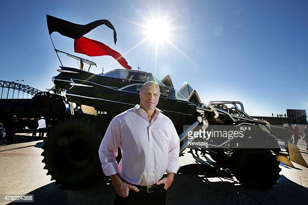Actor Nathan Jones who plays Rictus Erectus at a vehicle showcase at the Sydney Opera House during a special promotion ahead of the premiere of the...