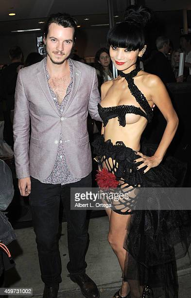 Actor Nathan Keyes and actress Bai Ling arrive for The Real Experimental Film Festival held at Laemmle Music Hall on November 21 2014 in Beverly...