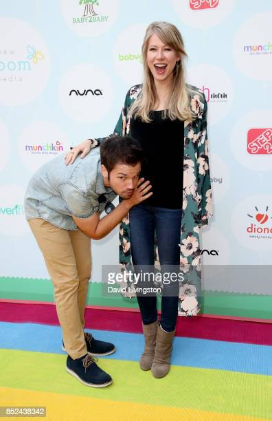 Actor Nathan Kress and London Kress attend the 6th Annual Celebrity Red CARpet Safety Awareness Event at Sony Studios Commissary on September 23 2017...