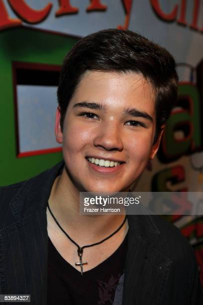Actor Nathan Kress arrives at the premiere Of Nickelodeon's Merry Christmas Drake Josh on December 2 2008 at the Landmark Theatres Westside Pavilion...