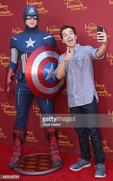 Actor Nathan Kress attends Madame Tussauds Hollywood Grand Opening Party For New Marvel Super Heroes 4D Theater at Madame Tussauds on July 10 2014 in...