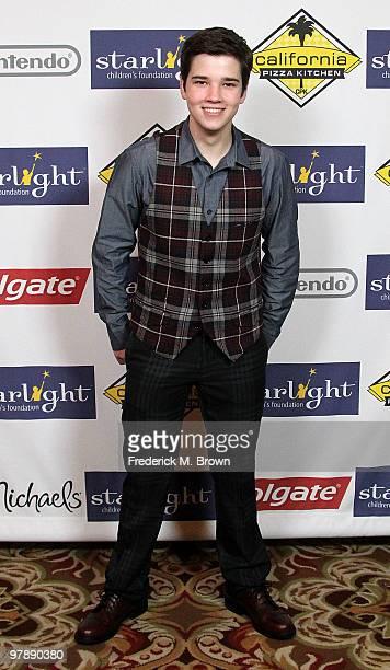 Actor Nathan Kress attends the Starlight Children's Foundation's annual 2010 'A Stellar Night' gala at the Hyatt Regency Century Plaza Hotel on March...