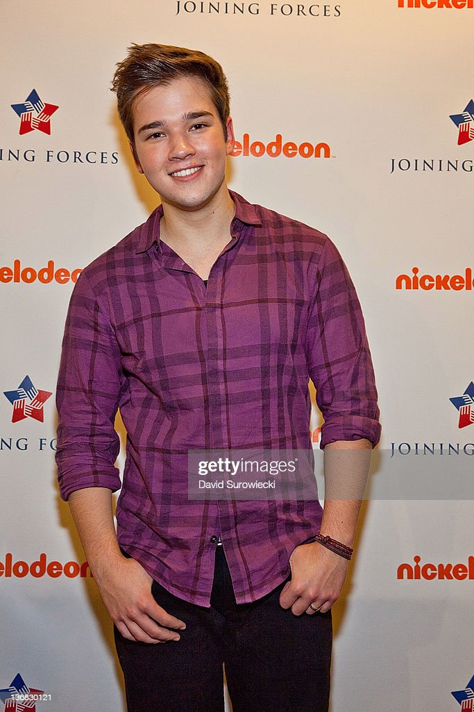Actor Nathan Kress poses backstage at the auditorium at Naval Submarine Base New London on January 11, 2012 in Groton, Connecticut. The cast of Nickelodeon's iCarly were presenting a special military family screening of iMeet The First Lady, an episode of their show featuring Michelle Obama.