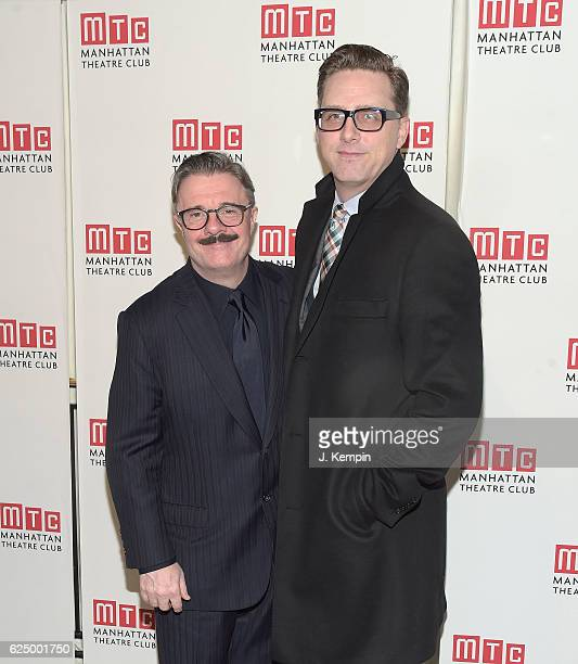 Actor Nathan Lane and Devlin Elliott attend the 2016 Manhattan Theatre Club's Fall Benefit at 583 Park Avenue on November 21 2016 in New York City