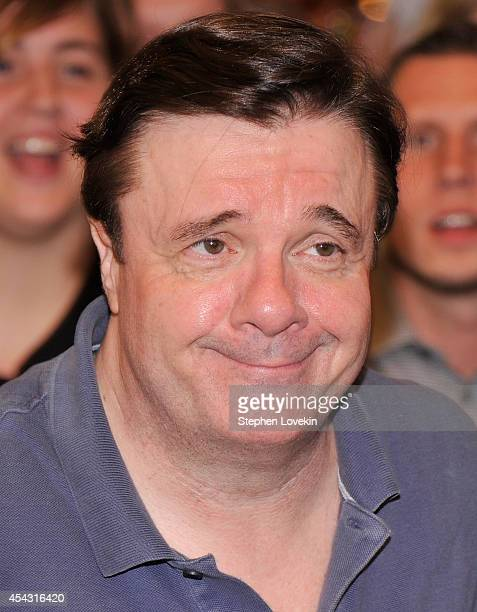 """Actor Nathan Lane attends the """"It's Only A Play"""" first performance at The Schoenfeld Theatre on August 28, 2014 in New York City."""