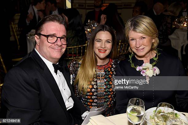 Actor Nathan Lane Drew Barrymore and Martha Stewart attend ASPCA 19th Annual Bergh Ball honoring Drew Barrymore hosted by Nathan Lane wiith music by...