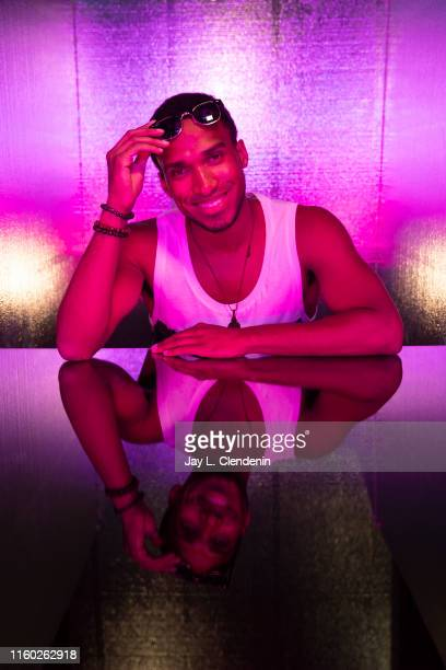 Actor Nathan Mitchell of 'The Boys' are photographed for Los Angeles Times at ComicCon International on July 20 2019 in San Diego California...