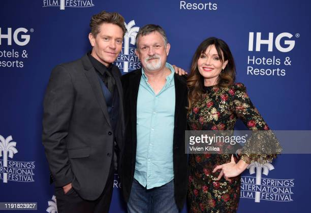 Actor Nathan Page director Tony Tilse and actress Essie Davis attend a screening of Miss Fisher and the Crypt of Tears at the 31st Annual Palm...