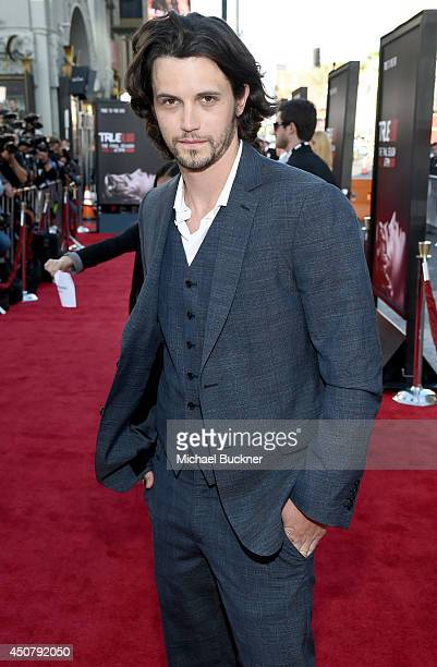 Actor Nathan Parsons attends Premiere Of HBO's True Blood Season 7 And Final Season at TCL Chinese Theatre on June 17 2014 in Hollywood California