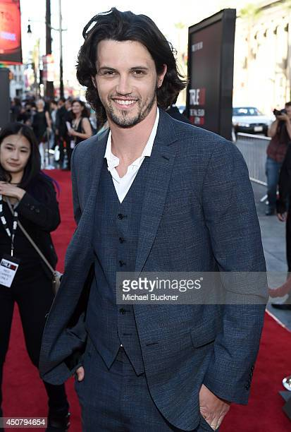 Actor Nathan Parsons attends Premiere Of HBO's 'True Blood' Season 7 And Final Season at TCL Chinese Theatre on June 17 2014 in Hollywood California