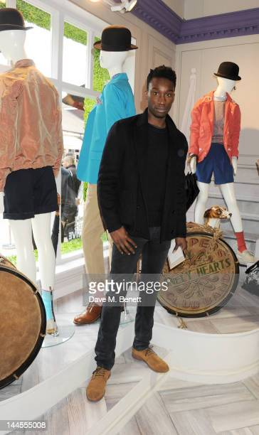 Actor Nathan StewartJarrett attend the British Designers Collective Mens Launch at Bicester Village on May 16 2012 in Bicester England