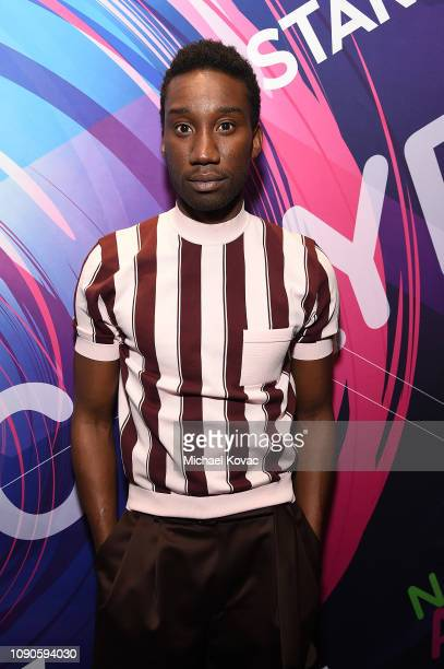 Actor Nathan StewartJarrett attends Starz Vanity Fair Sundance Party at on January 27 2019 in Park City Utah