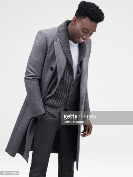 Actor Nathan StewartJarrett is photographed for Mr Porter on August 19 2011 in London England