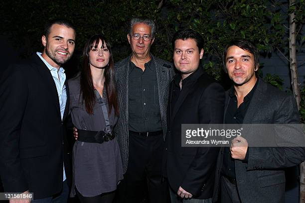 Actor Nathan West actress Chyler Leigh executive producer Walker Zuck producer James Walker and producer Robert Beaumont attend the 2011 American...