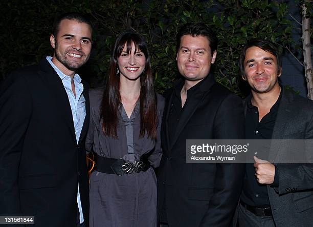 Actor Nathan West actress Chyler Leigh producer Robert Beaumont and producer James Walker attend the 2011 American Film Market Day 4 Lightning Entmt...