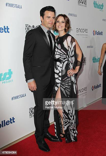 Actor Nathan West and Chyler Leigh attend the 6th Annual Thirst Gala at The Beverly Hilton Hotel on June 30 2015 in Beverly Hills California
