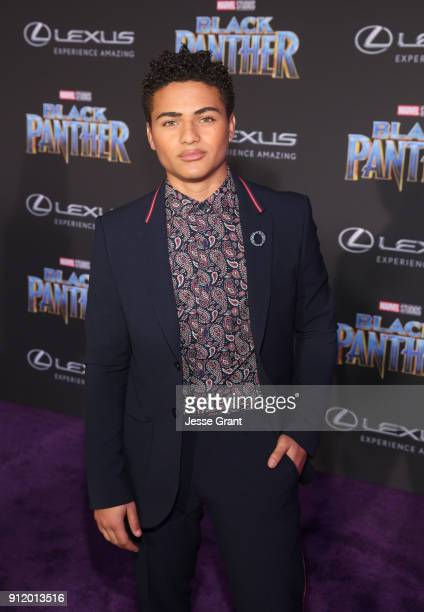 Actor Nathanial Potvin at the Los Angeles World Premiere of Marvel Studios' BLACK PANTHER at Dolby Theatre on January 29 2018 in Hollywood California