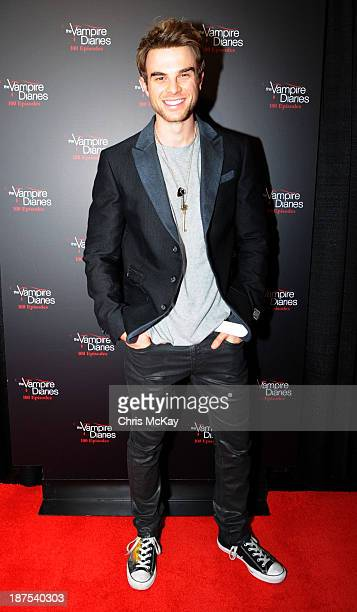 Actor Nathaniel Buzolic attends The Vampire Diaries 100th Episode Celebration on November 9 2013 in Atlanta Georgia