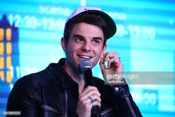 Actor Nathaniel Buzolic attends the Warsaw Comic Con.
